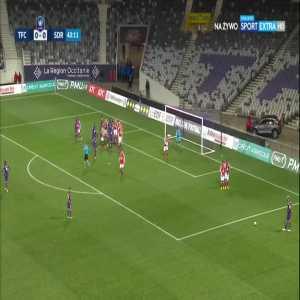 Toulouse [1]:0 Stade Reims - Aaron Leya Isekao 44'