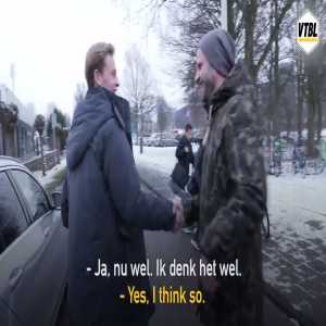 "Journalist to Frenkie De Jong: ""May I congratulate you in advance?"". De Jong: ""Yes, I think so. You can now."