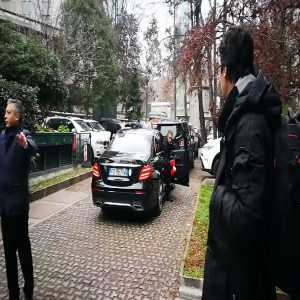[Vitiello] Piątek just arrived at La Madonnina clinic to begin his medical test