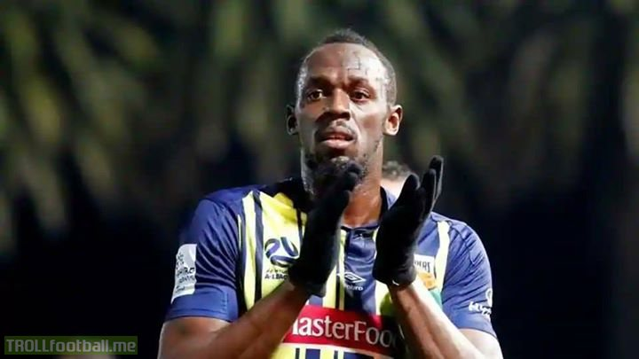 Usain Bolt has retired from football  Games: 2 Wins: 2 Goals: 2  Won the same amount of trophies as Harry Kane  Registered the same amount of assists as Jorginho this season  A better first touch than Lukaku  A true legend of the game ⚡️