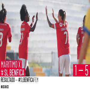 Benfica Women's finally suffered a goal, in their 5-1 away win at first divisions Maritimo ground