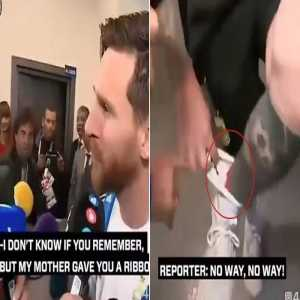 After struggling at Barça for the past months, Messi has yesterday handed the good luck ribbon given to him by a reporter at the World Cup to Coutinho and gave him his penalty as well to help him regain his form and score a brace. The type of leader every team needs.