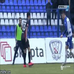 Domagoj Bradaric great skill in today HNK Hajduk's match