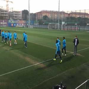 Messi and Dembele in full training ahead of El Clasico