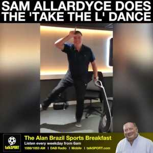 """Talksport: Big Sam does the """"Take the L"""" dance from Fortnite"""