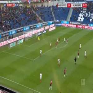 Hannover 1-0 Nurnberg - Nicolai Muller 45'+5'