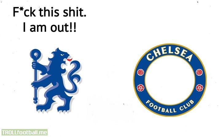 Chelsea's lion has left 😂