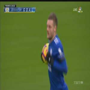 Tottenham 2-[1] Leicester City: Vardy