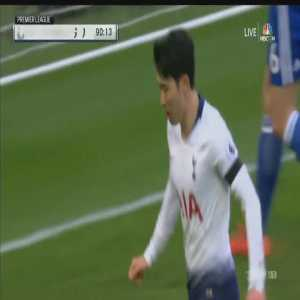 Tottenham [3]-1 Leicester City: Son