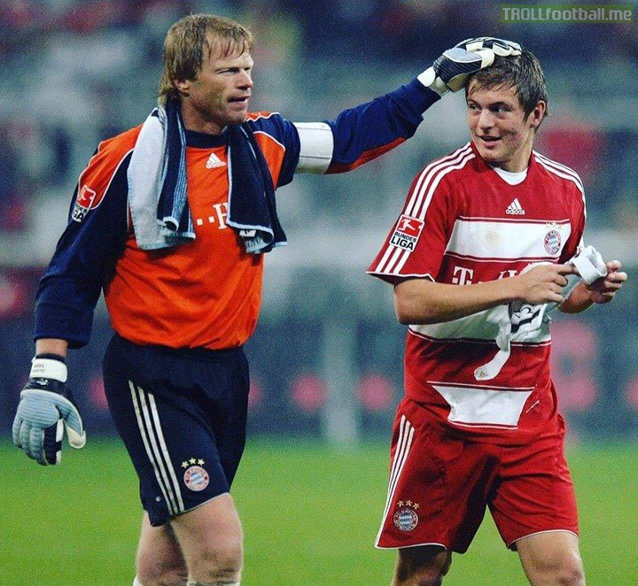 Ever since the legendary goalkeeper touched Kroos, Legend says that Kroos always backpasses to the keeper to honour the touch.