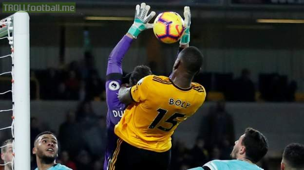 Wily Bolly wrestling Dubravka for the equalizer