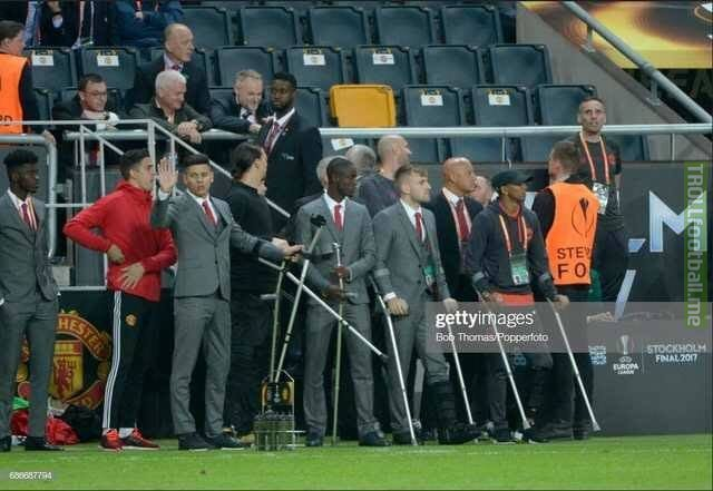 Live scenes of the Man United bench right now.