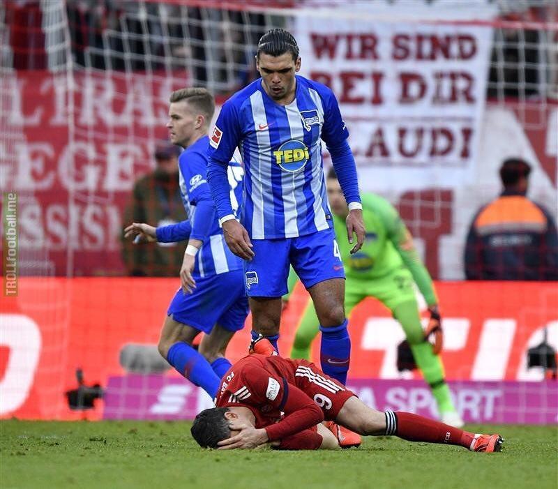 Rekik's post on Instagram - after red card against Lewandowski