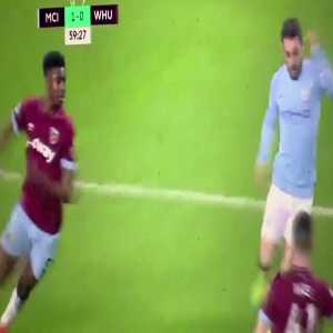 Bernardo Silva dive against West Ham