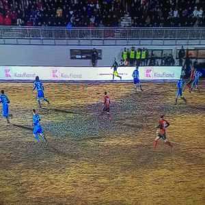 Awful playing conditions in Romanian Cup Quarter Finals