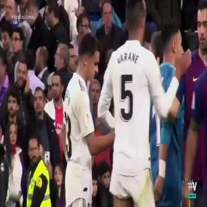 Sergio Reguilon breaking down in tears after humiliating 3-0 defeat to Barcelona at the Bernabeu
