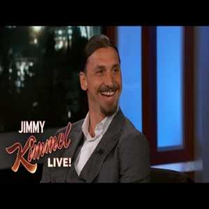 Zlatan Ibrahimović returns to Jimmy Kimmel Live for an interview after a year
