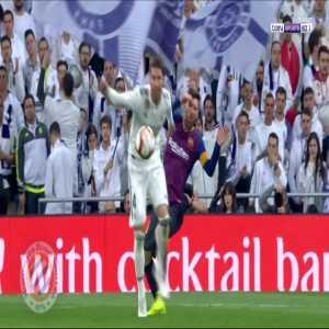 Ramos elbow on Messi (Real Madrid - Barcelona)