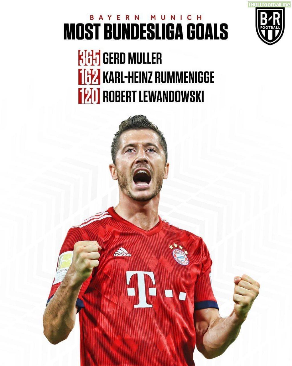Robert Lewandowski is now Bayern's 3rd highest Bundesliga goal scorer