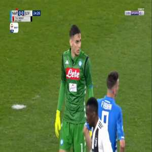 Alex Meret (Napoli) straight red card against Juventus 25'