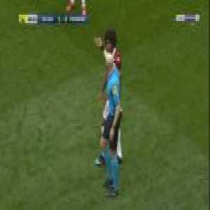 Samuel Grandsir (Strasbourg) and Danilo (Nice) straight red cards 89'