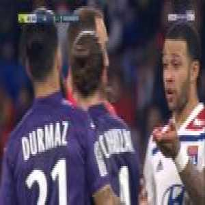 Yannick Cahuzac (Toulouse) straight red card against Lyon 83'