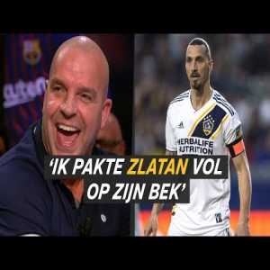 """Andy van der Meijde: """"I used to sit next to Zlatan in the bus when we were at Ajax, and then one time when he was sleeping I got gay tendencies and I just kissed him on the mouth. Seconds later I got a few punches thrown at me."""""""