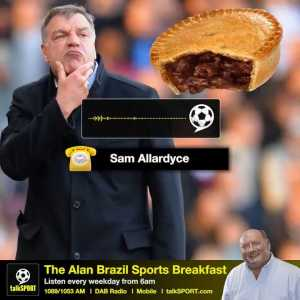 It's #NationalPieWeek! 🥧 So, obviously, we asked Big Sam Allardyce what his favourite type of pie is... 😂