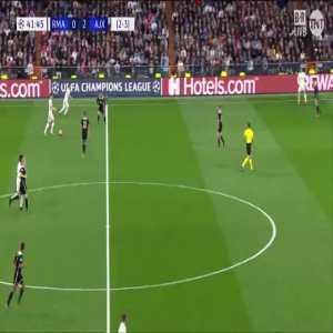 Gareth Bale off the post vs Ajax