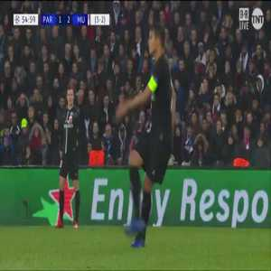 Great flick by Mbappé on an offside goal