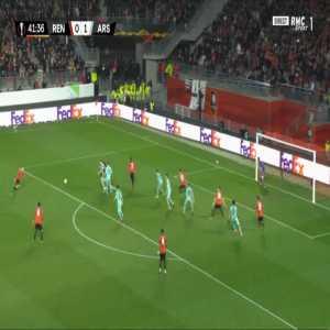 Rennes [1]-1 Arsenal - Benjamin Bourigeaud 42'