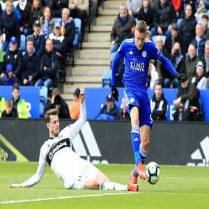Jamie Vardy has scored his 100th goal for Leicester City in all competitions, becoming the first player to achieve the feat for the Foxes since Gary Lineker