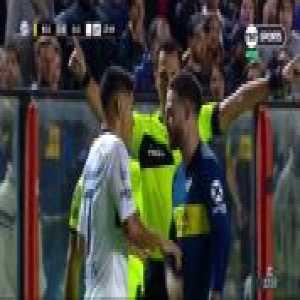 San Lorenzo goalkeeper Fernando Monetti straight red card - Boca Juniors 2-0 San Lorenzo