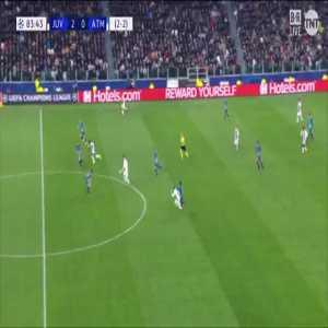 Bernardeschi great run to draw a penalty vs Atlético