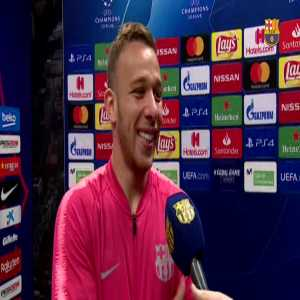 Barça's Player Arthur Melo Speaks On Facing Lyon In The UCL