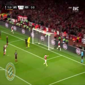 Arsenal [3]-0 Rennes : Aubameyang 72' (agg. 4-3)