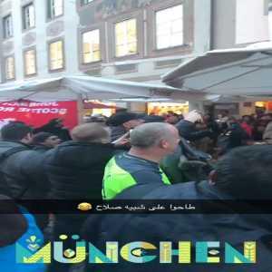 Liverpool fans meet a guy on the street in Munich who looks like Salah