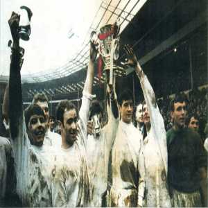 50 years ago today third division Swindon Town defeated Arsenal in the League Cup final.
