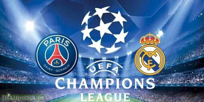*BREAKING NEWS* ':   Real Madrid. Vs PSG - Paris Saint-Germain UCL Quater Final Match Will Take On 1st April, 2019 In Santiago Bernabeau..   Just Can't Wait For This Match.🤤🔥