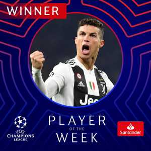 Cristiano Ronaldo named UCL Player of the Week