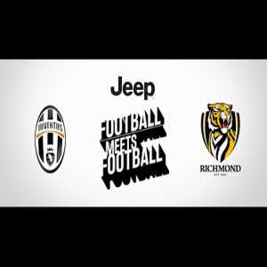 "Flashback: Paulo Dybala, Hernanes and Jay the Zebra meet Richmond (AFL)'s Trent Cotchin, Ivan Maric and ""Stripes"" Dyer at Punt Road Oval during Juve's 2016 tour stop in Melbourne"
