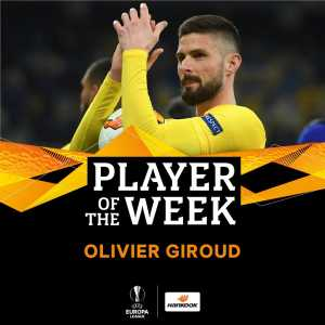 Olivier Giroud named Europa League player of the week