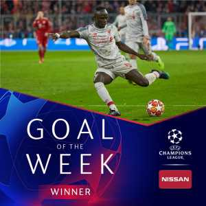 Sadio Mané wins UCL Goal of the Week