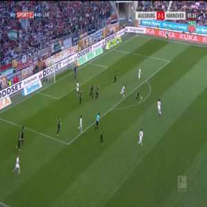 Augsburg [3]-1 Hannover - Andre Hahn 86'
