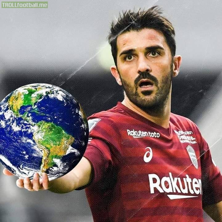 Europe ✅ America ✅ Oceania ✅ Asia ✅ Africa ✅  David Villa is officially 'Mr. Worldwide' after scoring goals in all the five continents 🌍