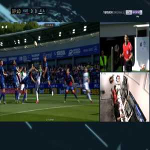 Huesca 0-1 Alaves - Jonathan Calleri penalty 11'
