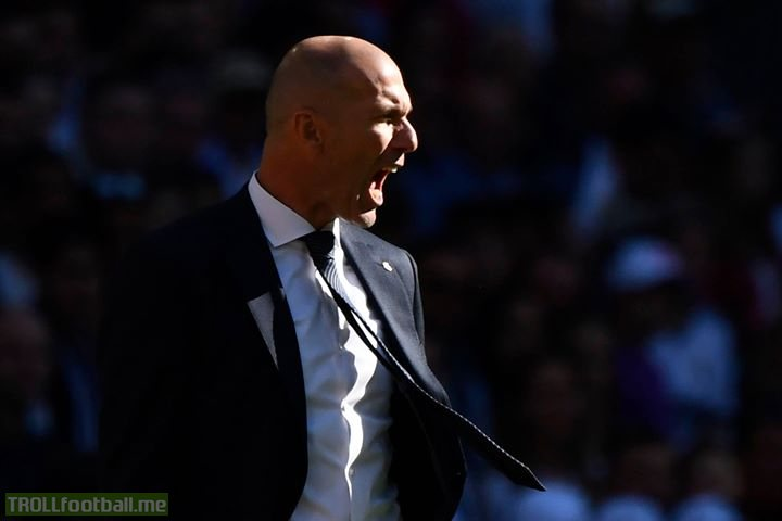 It's His First Game As A Real Madrid Manager After A Long Time..   But Still That Passion Is There On His Face.🔥  Just Zidane Things.🤯🔥
