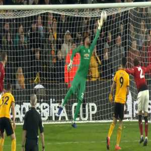 Sergio Romero save vs Wolves.
