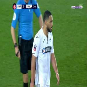 Swansea 2-[2] Manchester City - Kristoffer Nordfeldt OG 78' (+ call)