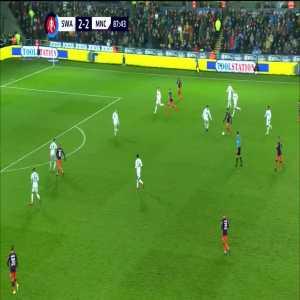 Swansea 2-[3] Manchester City: Aguero